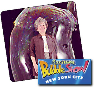 Gazillion Bubble Show New York Tickets on September 15, 2013 at New World Stages: Stage 2 New York