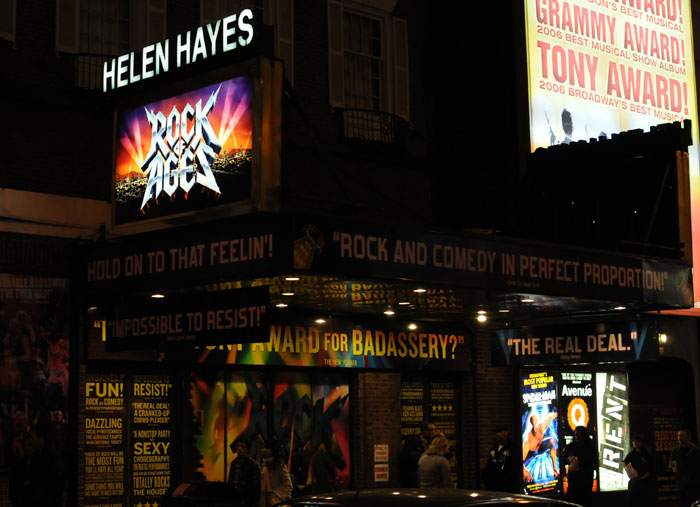 Rock of Ages New York Tickets on March 03, 2014 at Helen Hayes Theatre New York