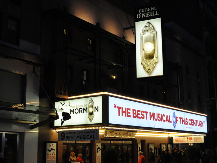 The Book Of Mormon New York Tickets on May 09, 2014 at Eugene O'Neill Theatre New York